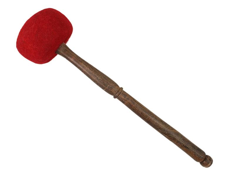 Klangschalen Filzschlägel weich rot 26 cm