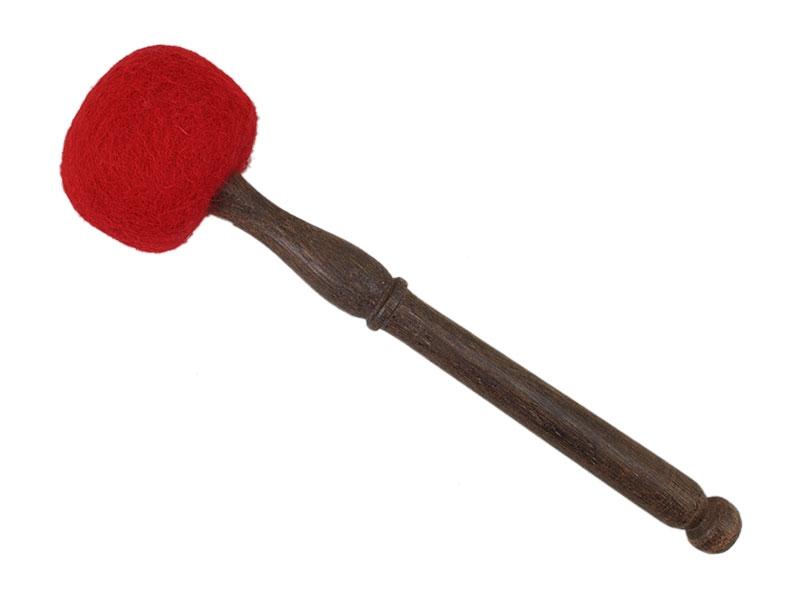 Klangschalen Filzschlägel weich rot 32 cm
