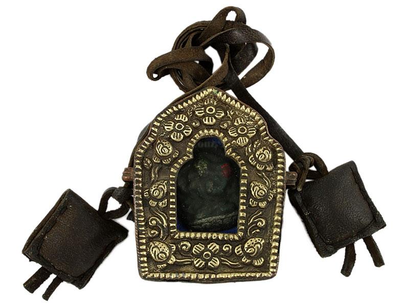 Tibetische Ghau Box Amulett Bodhisattva Manjushri