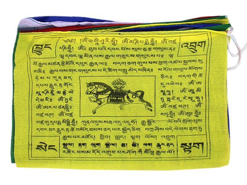 Gebetsfahnen Lungta mit 10 Fahnen Polyester