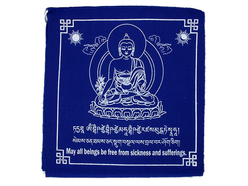 Tibetische Gebetsfahnen - Medizin Buddha