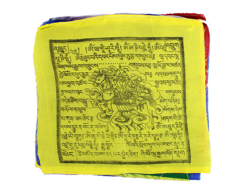 Gebetsfahne mit 25 Fahnen Polyester klein hohe Qualität