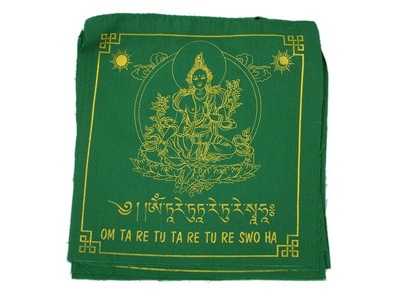 Tibetische Gebetsfahnen - Grüne Tara