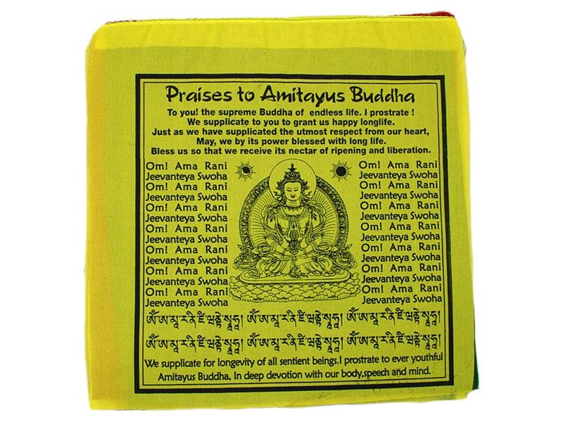 Gebetsfahnen - Praises to Amitayus Buddha Englisch