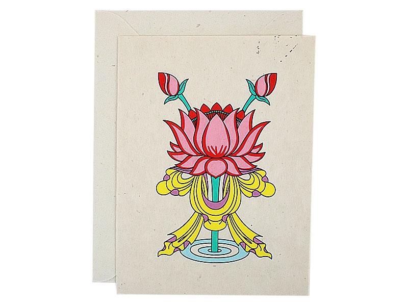 Grußkarten mit Umschlag Lotus Padma