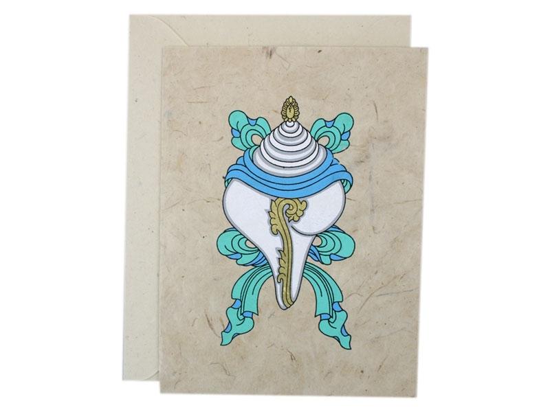Grußkarten mit Umschlag Muschelhorn Conch