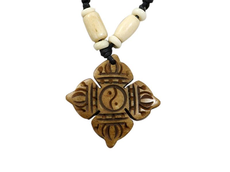 Yak-Knochen Kette - Dorje Yin Yang