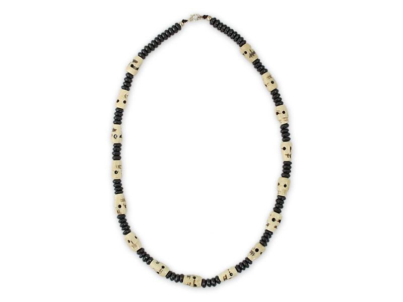 Halskette Surferkette Totenkopf Schädel aus Knochen