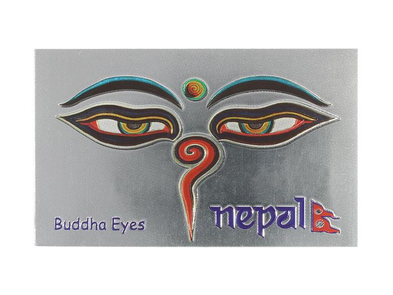 Kühlschrank-Magnet Buddha Eyes Nepal