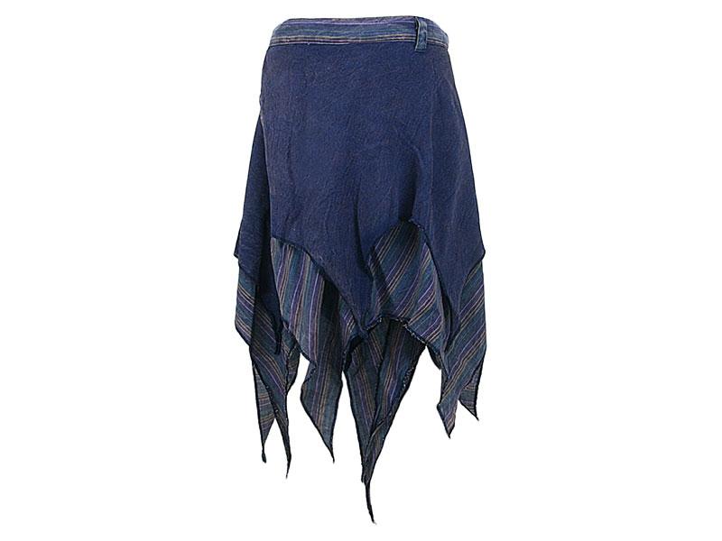 Zipfelrock Wickelrock Cacheur Baumwolle blau