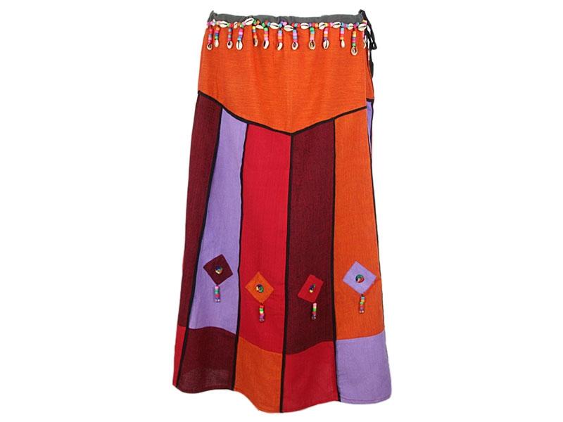 Patchwork Damen Folklore Rock Rajasthan Style