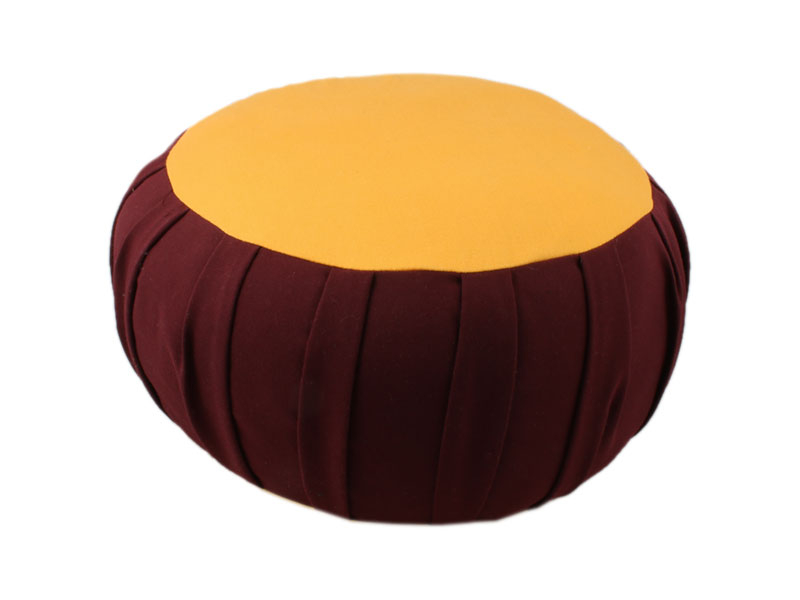 Meditationskissen Zafu Tibet rotbraun orange