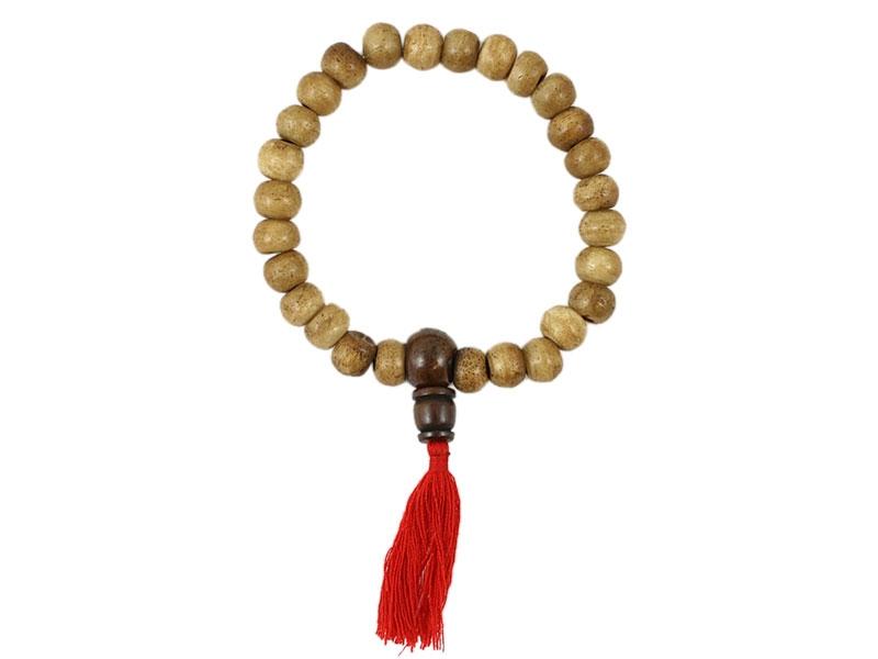 Hand-Mala Gebetskette Knochen hellbraun