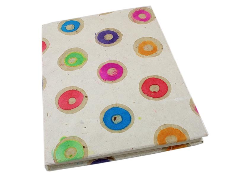 Notizbuch Tagebuch Golakara Kreise aus Loktapapier A5
