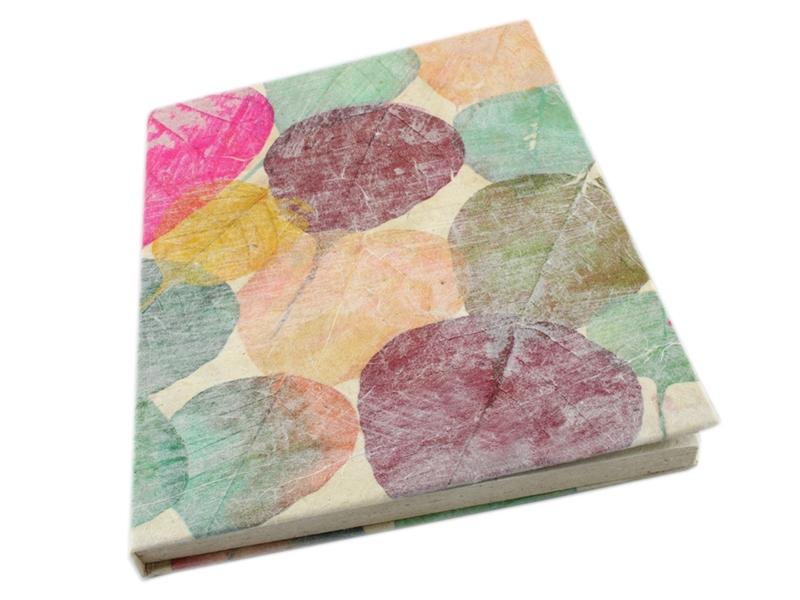 Notizbuch Tagebuch Bodhi Blatt aus Loktapapier A5