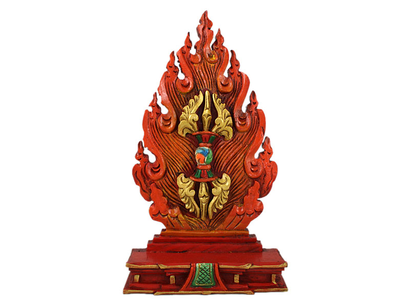 Tibet Dorje Skulptur Holz geschnitzt
