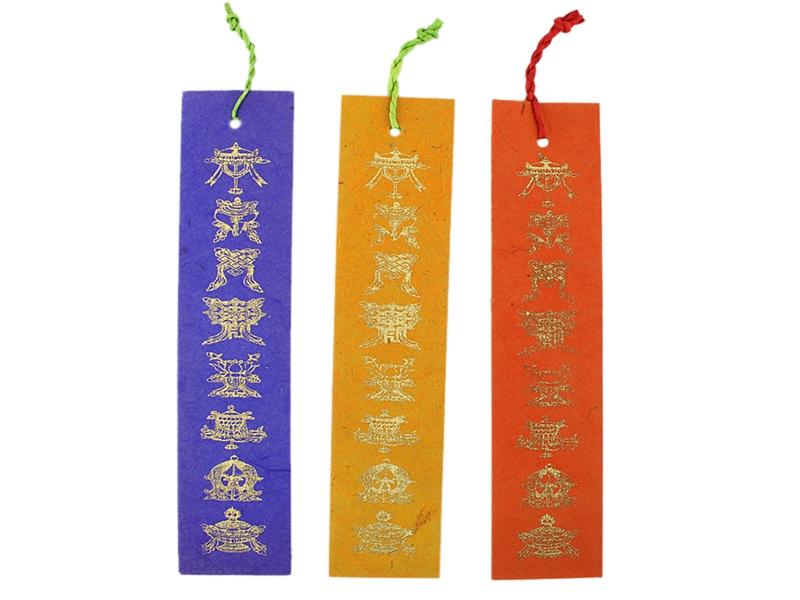 Lesezeichen Loktapapier Glückssymbole