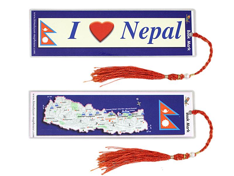 Laminiertes Lesezeichen I Love Nepal
