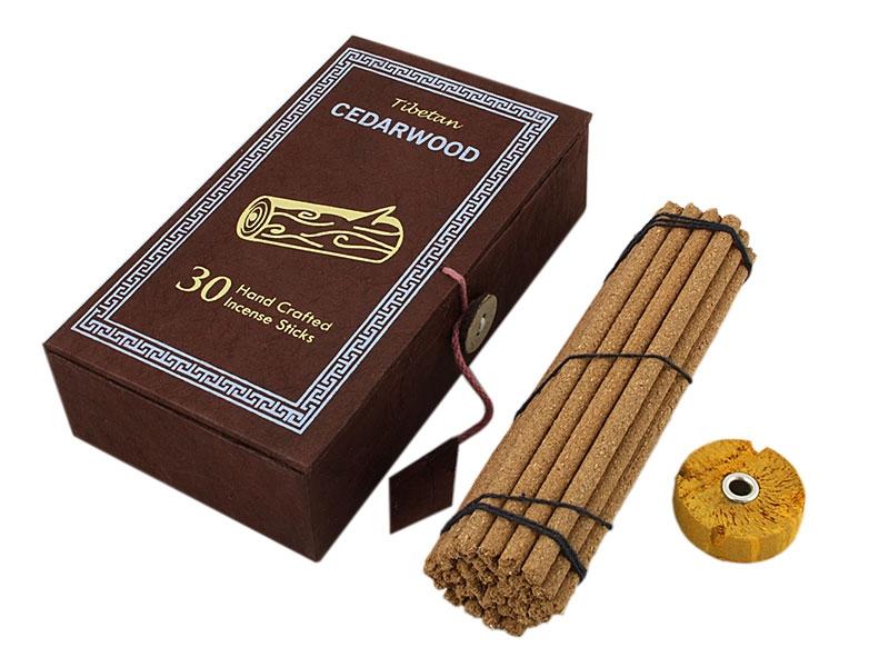 Tibetische Cedarwood Räucherstäbchen mit Box