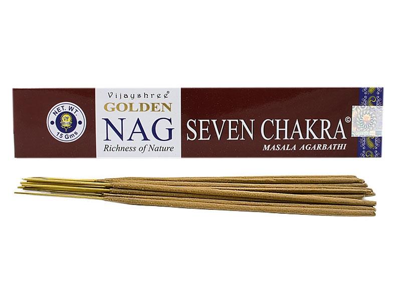 Räucherstäbchen - Golden Nag Seven Chakra Mantra