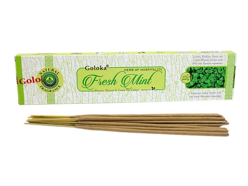 Räucherstäbchen Goloka Natural Fresh Mint