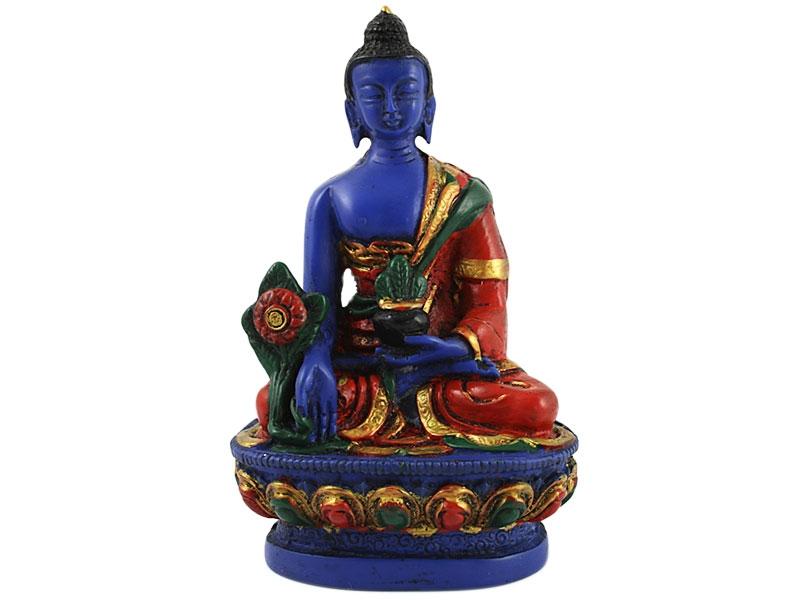 Medizin Buddha Statue handbemalt