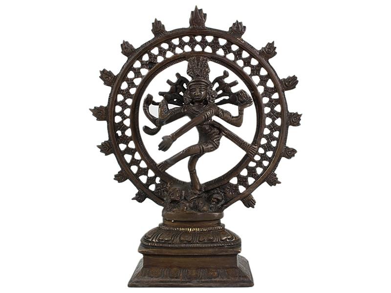 Shiva Nataraja - Messing Statue 21 cm