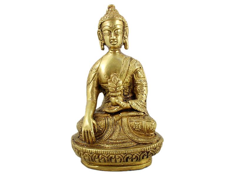 Akshobhya Buddha Messing Statue 15 cm