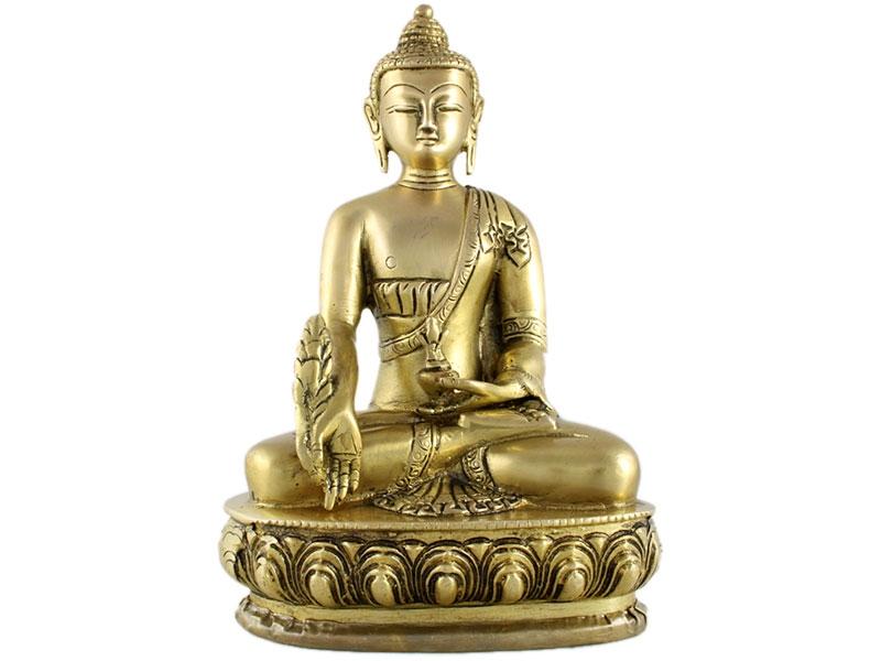 Medizin Buddha Statue Messing 20 cm
