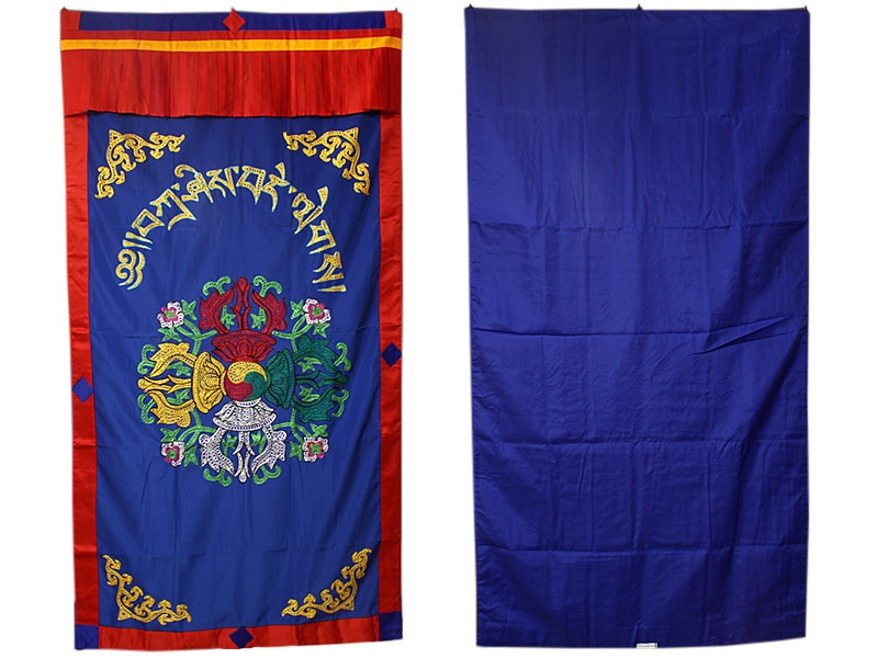 Tibetischer Türbehang mit Doppel Dorje Stickerei