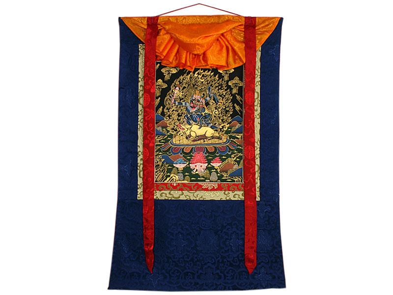 Tibetisches Thangka Yama und Yami