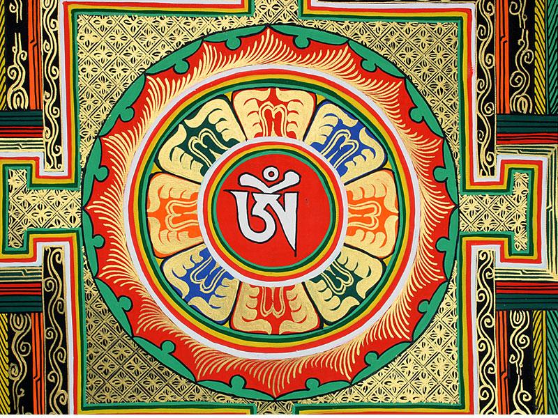 Großes Kalachakra Mandala Thangka