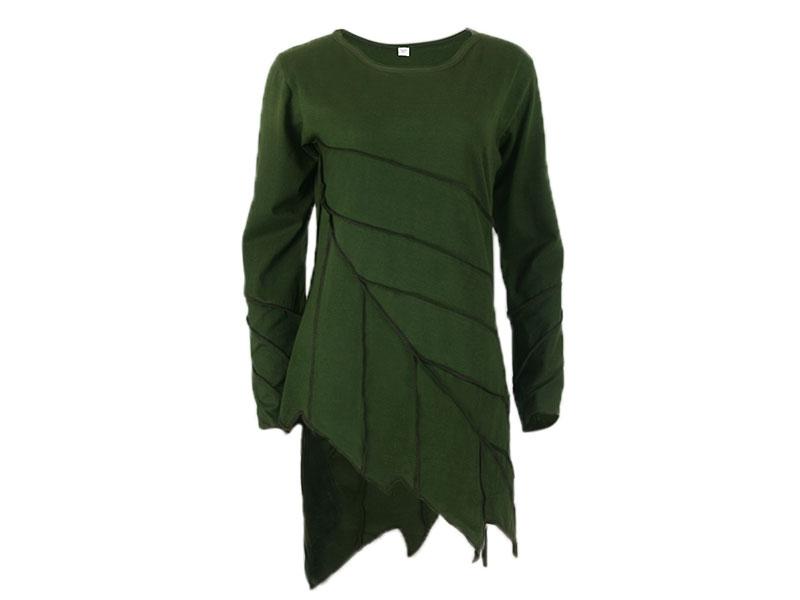 Patchwork Kleid Damen Zipfelkleid