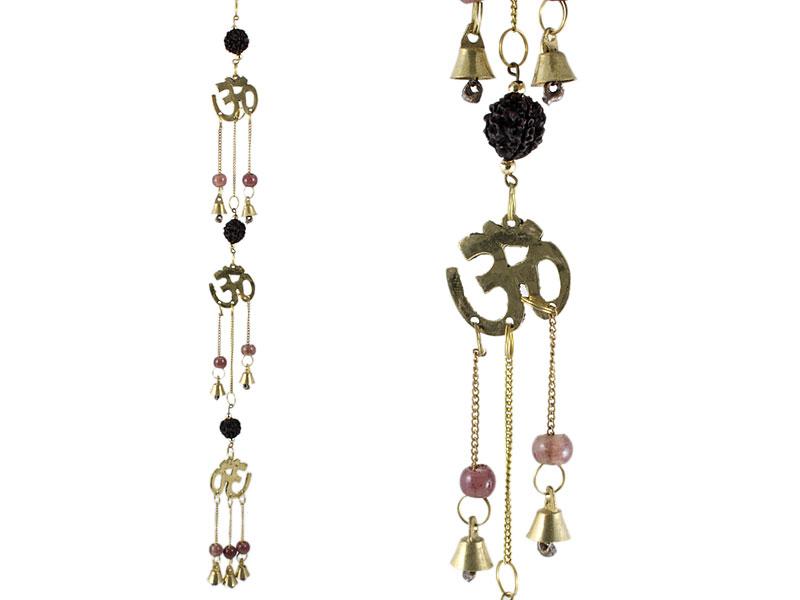 Windspiel Glockenspiel mit Om Symbolen