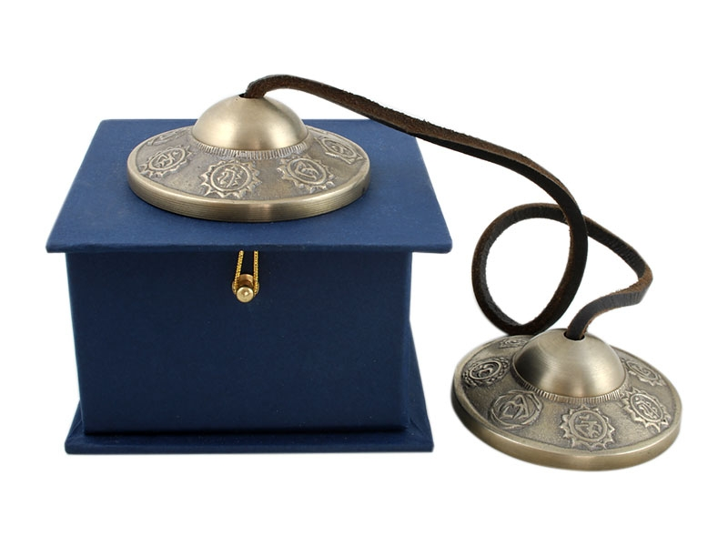 Tibetische Chakra Zimbeln mit blauer Geschenkbox