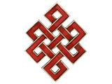 Unendlicher Knoten Wandbehang aus Holz