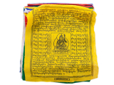 Gebetsfahne mit 25 Fahnen Baumwolle Premium klein