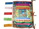 Vertikale Gebetsfahne Medizin Buddha