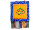 Tibetischer Wandbehang - Om Symbol