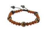 Rudraksha Armband mit Tigerauge Perlen