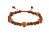 Rudraksha Armband mit Karneol Perlen