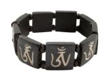 Armband Yak Knochen - Om Symbol