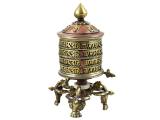 Tisch Gebetsmühle stehend Om Mani Mantra