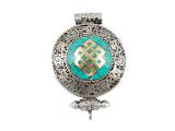 Tibetische Ghau Box Medaillon - Unendlicher Knoten
