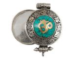 Tibetische Ghau Box Medaillon - Om