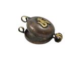 Tibetische Ghau Box Medaillon aus Kupfer mit Om Symbol