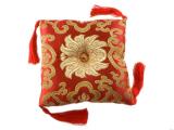 Klangschalenkissen Brokat Lotus rot 15 cm
