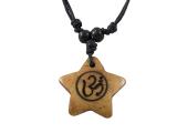 Yak-Knochen Kette - Om - Pentagramm