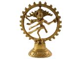 Shiva Nataraja - Messing Statue 12,5 cm