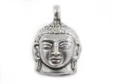 Anhänger Buddha-Kopf - 925er Sterling Silber